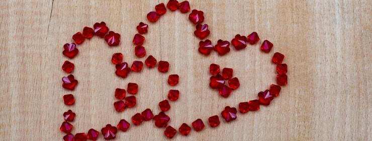 Swarovski red Gemstones Heart-shaped
