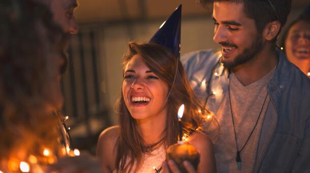 girl celebrating a birthday