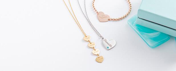 heart jewellery mobile banner
