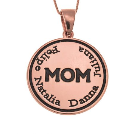 Engraved Mum Disc Necklace