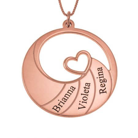 Three Names Spiral Necklace