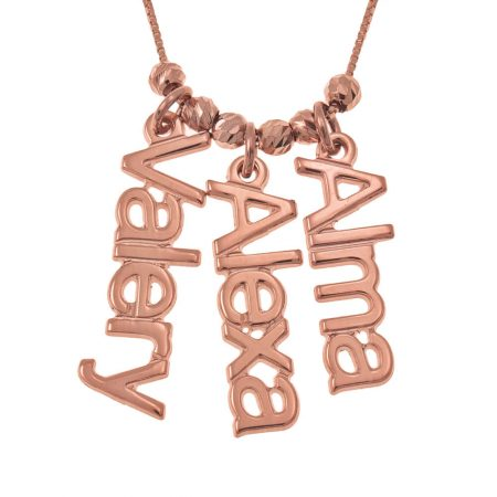 Vertical Names Necklace