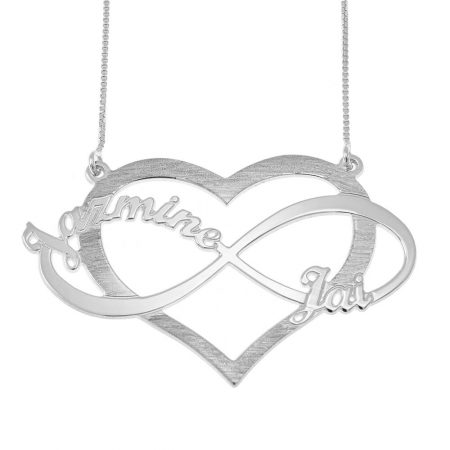 Cut Out Infinity Names and Heart Necklace