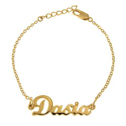 Dainty Name Bracelet gold