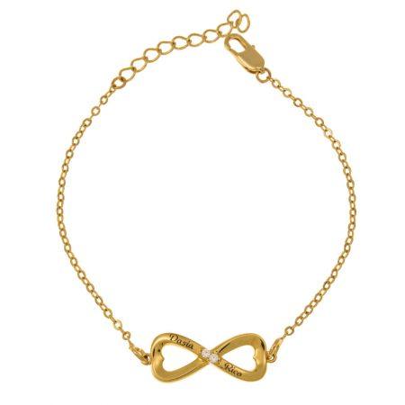 Inlay Infinity Bracelet