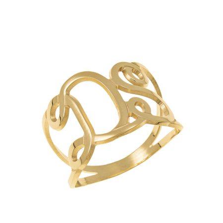 Interlocking Initials Ring