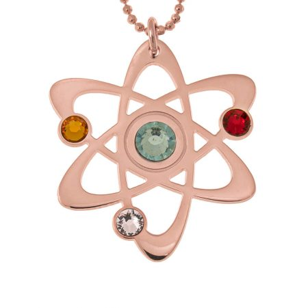 Atom Necklace with Birthstones