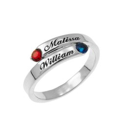 Custom Wrap Promise Ring silver