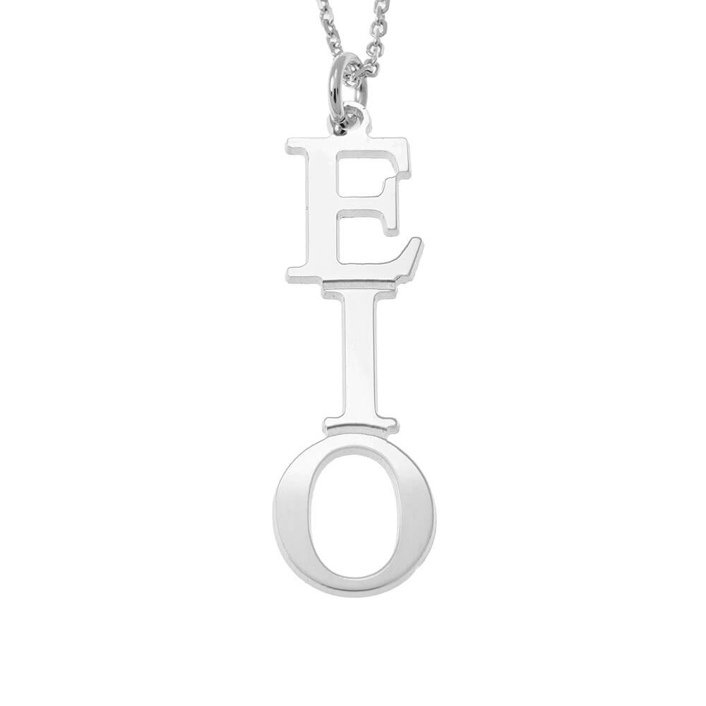 Greek Vertical Necklace silver
