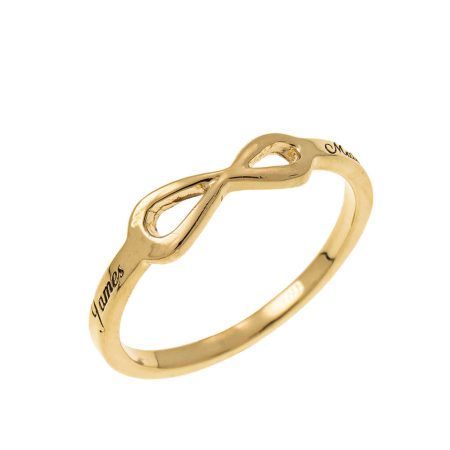 Infinity Love Ring with Engraving