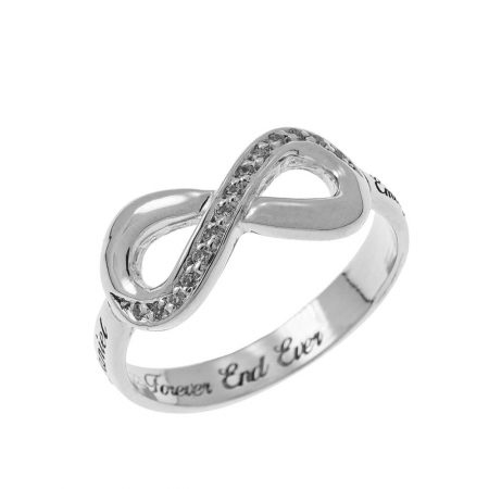 Inlay Infinity Ring with Engraving