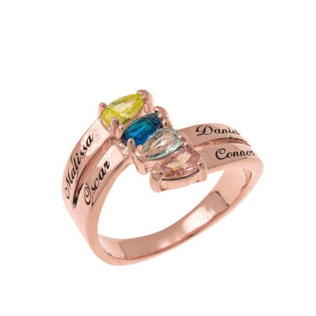 Mothers' Ring with Four Birthstones