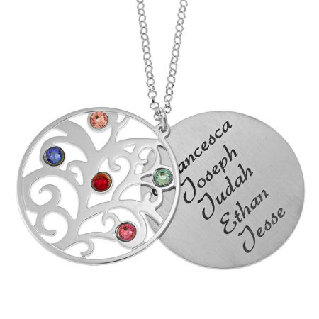 Personalised Double Layer Family Tree Necklace