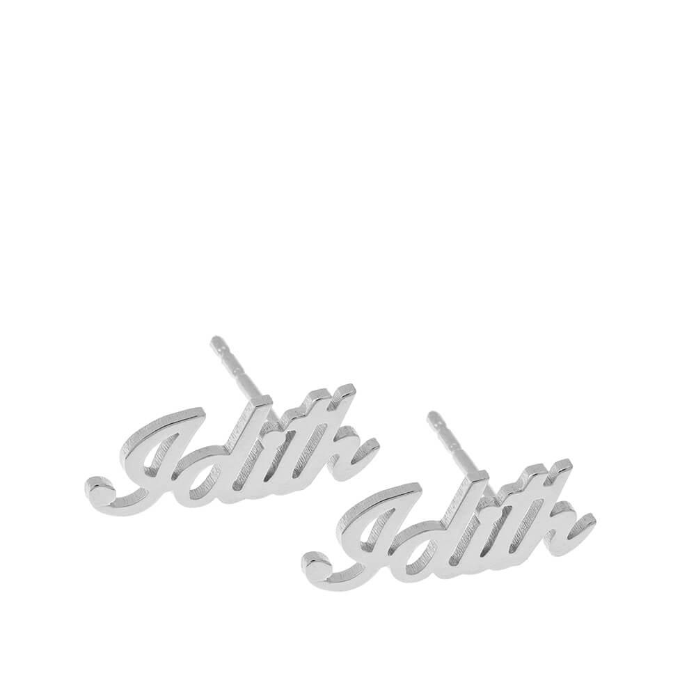 Personalised Name Stud Earrings silver