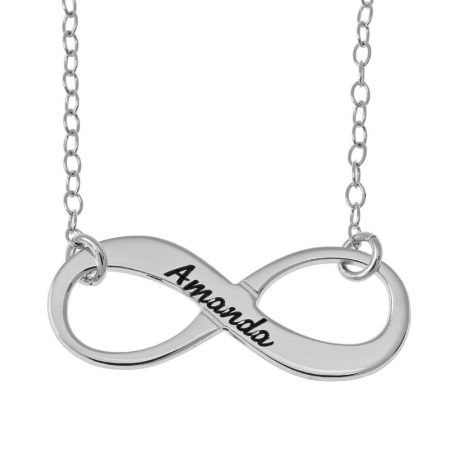 Vintage Name Infinity Necklace