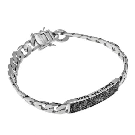 Inlay Gourmette Bracelet For Men