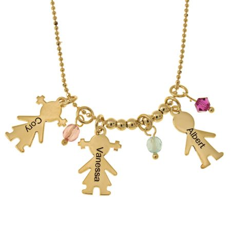 Kids Charms and Birthstones Necklace