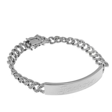 Men's Bar Name Bracelet