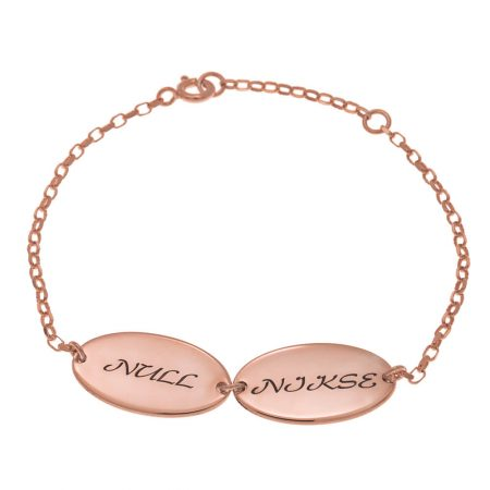 Oval Design Mum Bracelet with Kids Names