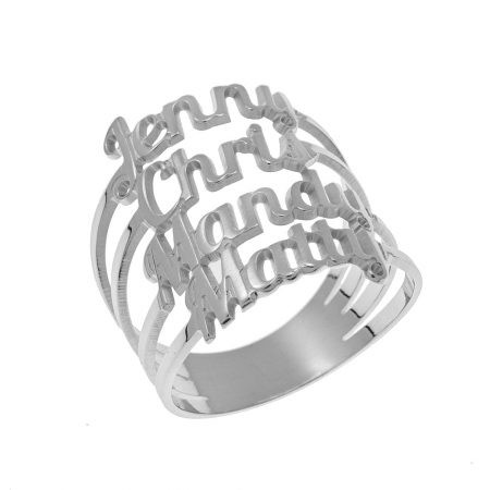 Cut Out 4 Names Ring