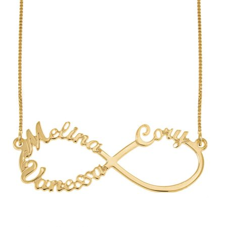 Infinity 3 Names Necklace
