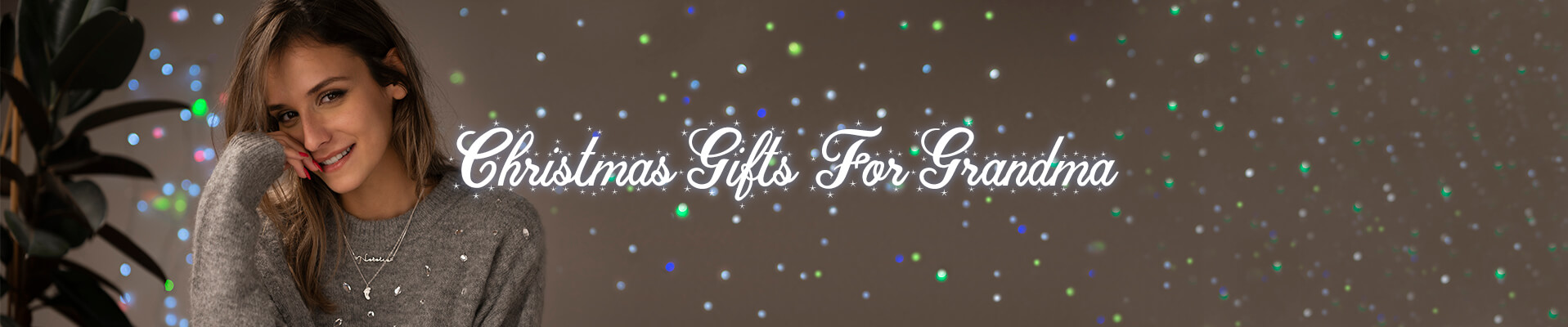 Christmas gifts for grandma desktop banner